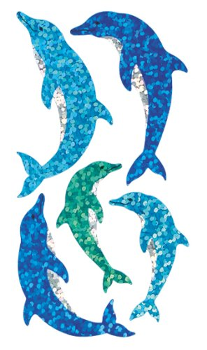 (Jillson Roberts Prismatic Stickers, Dolphins, Bulk Continuous Roll (BS7014))