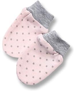 Bio Baumwolle Neugeborene Baby Anti Kratz F/äustlinge Handschuhe Farbe Hellbraun Gestreift
