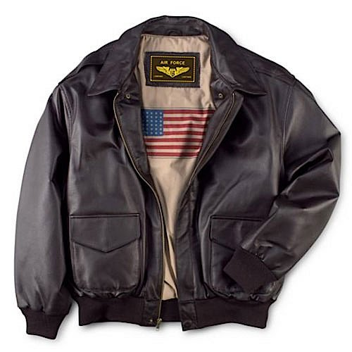 Landing Leathers Men's Air Force A-2 Leather Flight Bomber Jacket - Brown L