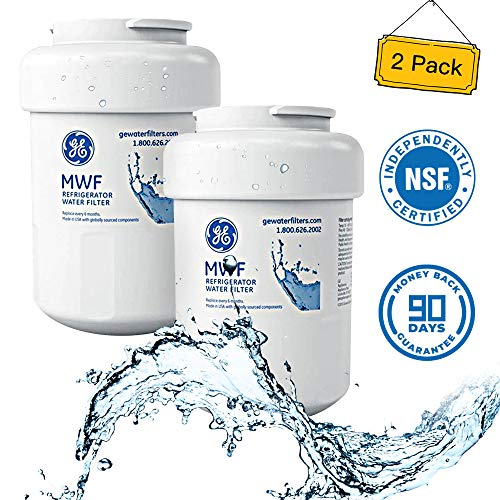 GE MWF Water Filter, Replaces MWF Water Filter for GE Refrigerator---2 Pack