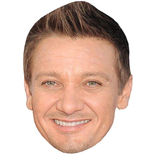Jeremy Renner Celebrity Mask, Card Face and Fancy Dress Mask -