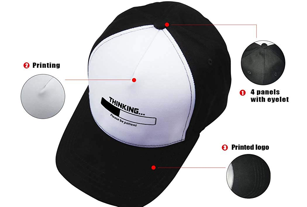 Xbacking Baseball Cap 3D Printed Adjustable Hats
