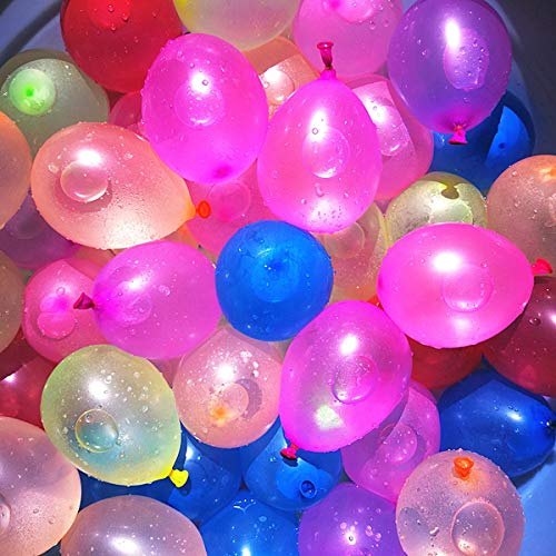 1200 Pack Water Balloons Refill Kits Quick & Easy Latex Water Bomb Balloons for Water Fight Games, Swimming Pool Party Summer Splash Fun