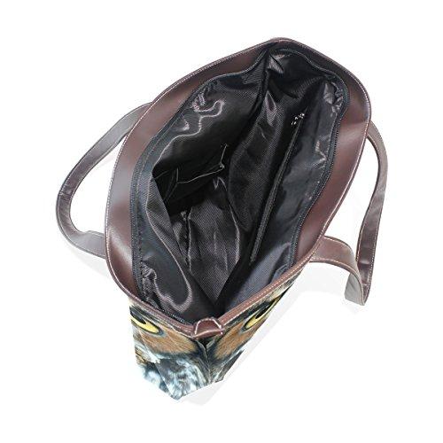 Impugnatura 40x29x9 Pu M Muticolour Womens Tote Grande Coosun A Leather Borsa Owl Bag Cm Tracolla Head wIx4OCqnz