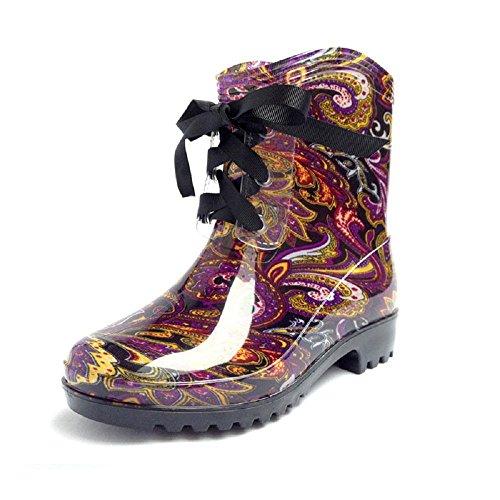 en la impermeables calentamiento de botas de la orita de agua zapatos Gen verano las se mujeres de purple jalea tubo el y de primavera manera de Gao RCwqUv