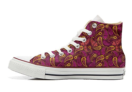 Converse All Star zapatos personalizados Unisex (Producto Artesano) Decor Paisley