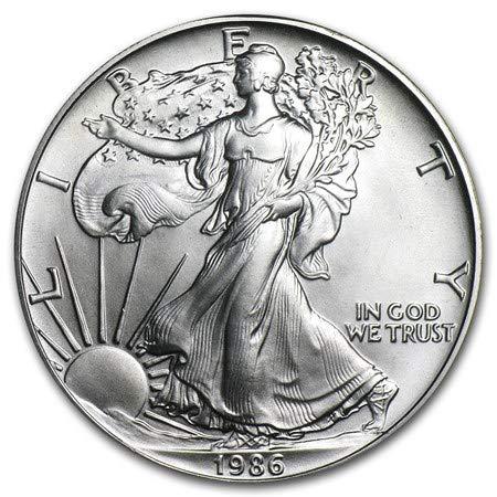 (1986 American Silver Eagle $1 Brilliant Uncirculated US Mint )
