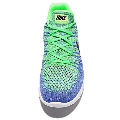 Mens Nike Lunarepic Low Flyknit 2 Loopschoen Electro Groen / Zwart-medium Blauw 8.0