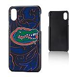 Keyscaper NCAA Florida Gators UF Paisley Slim Case, iPhone X, Black