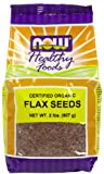Flax Seeds, Brown, Organic 2 lbs ( Multi-Pack)