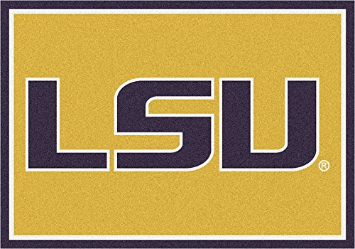 NCAA Team Spirit Door Mat - Louisiana State (LSU) Tigers, 56'' x 94'' by Millilken