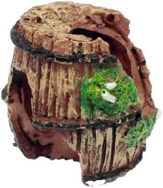 Jardín Paisaje Resina barril Diseño del ornamento para el acuario, marrón / verde
