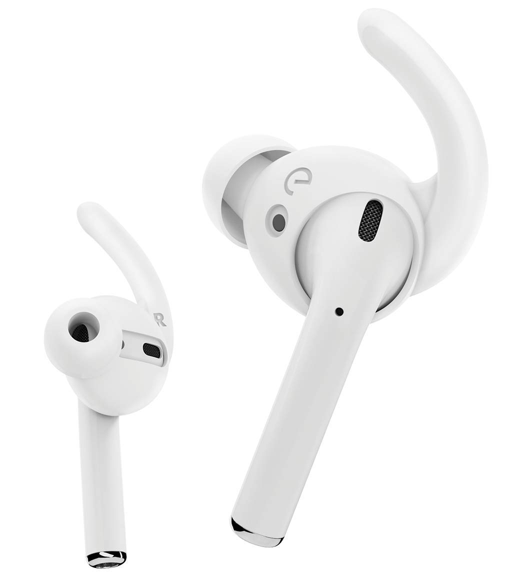 a2b72b68908 Amazon.com: EarBuddyz Ultra Ear Hooks and Covers Compatible with Apple  AirPods 1 & AirPods 2 or EarPods Featuring Bass Enhancement Technology  (Medium, ...