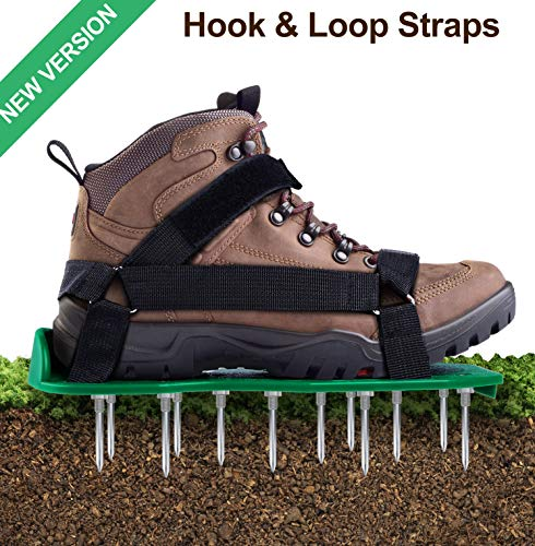 Ohuhu Lawn Aerator Shoes with Hook & Loop Straps