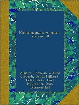 Mathematische Annalen, Volume 48