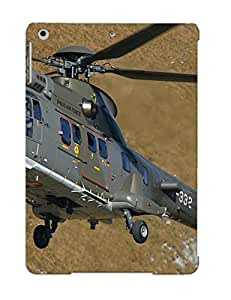 New Snap-on Burnednilsi Skin Case Cover Compatible With Ipad Air- Helicopter Aircraft Super Puma Transport Military Swiss Air Force Switzerland