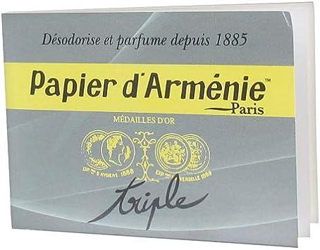Papier D Armenie Carnet De 12 Feuilles De 3 Lamelles Desodorise Parfume Tradition Amazon Fr Hygiasne Et Soins Du Corps