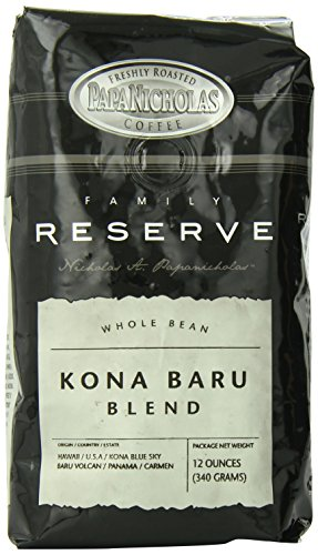 PapaNicholas Coffee In general Bean Coffee, Family Reserve Kona Baru Blend, 12 Ounce