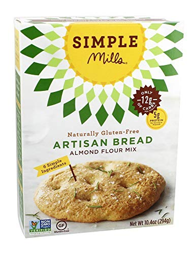 Simple Mills - Naturally Gluten-Free Almond Flour Mix Artisan Bread - 10.4 oz.