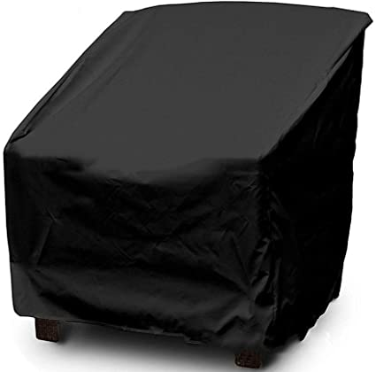 Jardín Balcón Mesa y silla Cobertizo Impermeable Muebles de exterior Cubierta de polvo 190 Recubierto de plata Poliéster Tafetán 70 * 79 * 70/102 cm (Color : 210D-Large 70 * 79 * 70/102cm): Amazon.es: Coche y moto