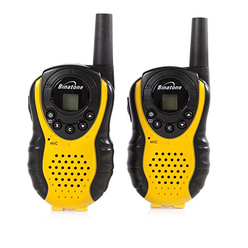 Binatone Latitude 100 Black/Yellow Twin Pack Walkie Talkie With Upto 3 km...