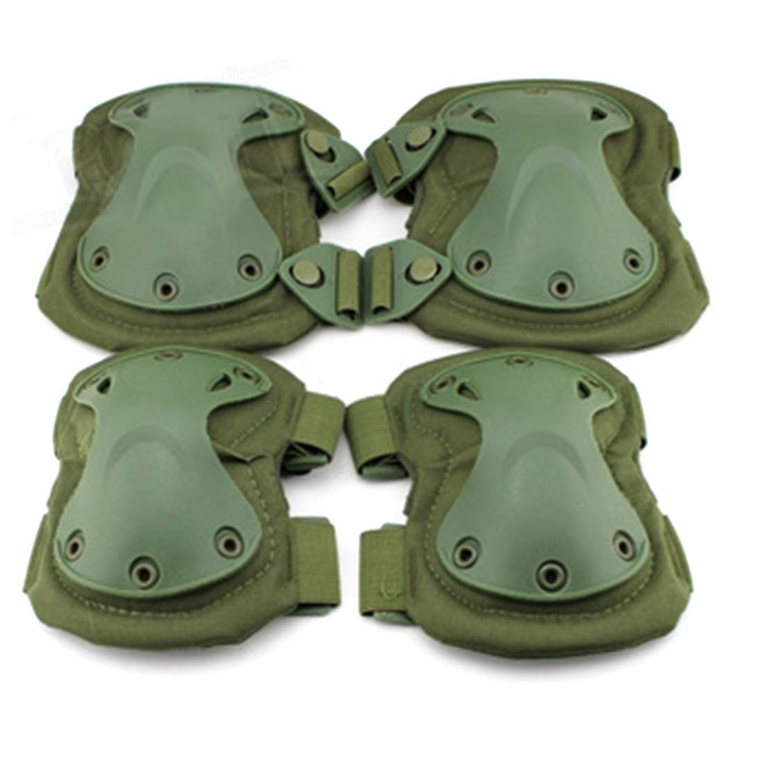 AIYAMAYA EVA Protective Gear Outdoor Riding Hiking Knee Pads Elbow Suit Field Tactical Equipment Knee Pads Elbow Suit (Style : Green (PA-03-OD))