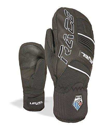 (Level Race Junior Ski Racing Mittens (Junior XSmall (4.5in), Black))