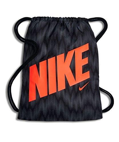 Nike Kids Graphic Sack Pack, (Black/Black/Hyper Crimson)