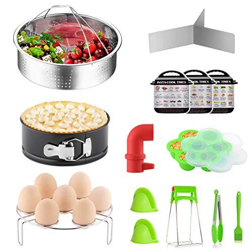 YOLIFE Instant Pot Accessories, 14 Pieces Pressure Cooker Accessories Set Compatible with Instant Pot 5,6,8 Qt - Steamer Baskets, Release Valve & More Accessories