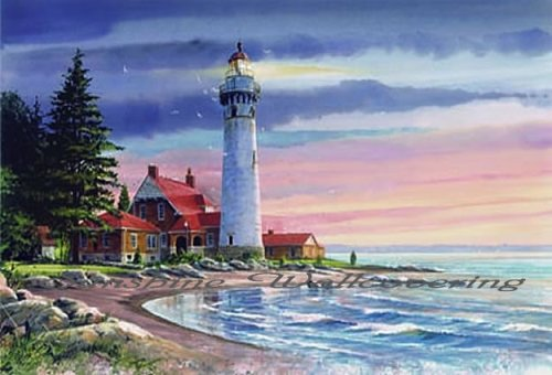 Northern Lighthouse Wall Mural (Lighthouse York Mural Wall)