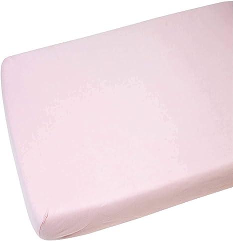 2 x cuna 100% algodón Jersey Sábana Bajera ajustable rosa 120 x 60 ...