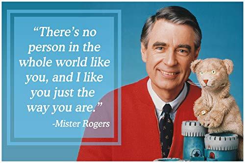 Vincit Veritas Mr Rogers Neighborhood Quote Daniel Tiger Poster Decor Teaching Kids Kindness P016