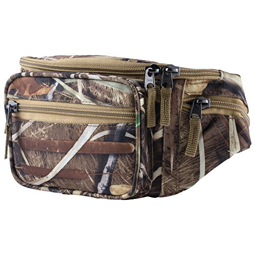 Maxam JX Swamper Waist Bag, Carry Everything You Need for Your Next Outdoor Adventure, Camo