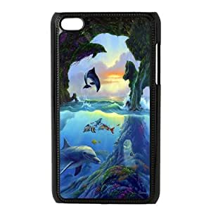 [MEIYING DIY CASE] FOR IPod Touch 4th -Dolphins and Sea Pattern-IKAI0447274
