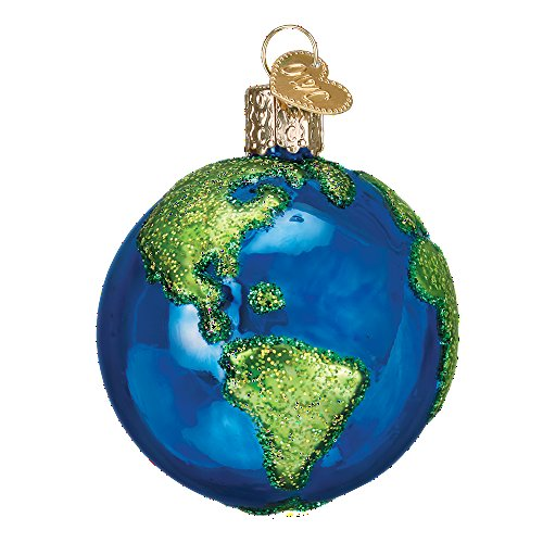 Old World Christmas Outer Space Glass Blown Ornament (Earth)