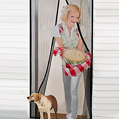 TAIR Magnetic Screen Door, Screen Door With 16 Powerful Magnets, Keeps Bugs & Mosquitoes Out, Fits Doors Up To 39 inch x 82 inch MAX