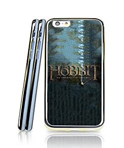 Iphone 6 / 6s [4.7 inch] Funda Case, Hobbit Logo Film Distinctive Unique Style Extra Thin [2 in 1 + Golden - Bordered] Anti Slip + Aesthetic Shell Protective Funda Case