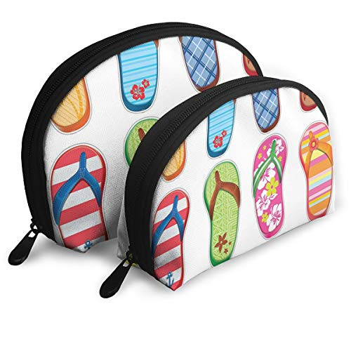 Pouch Zipper Toiletry Organizer Travel Makeup Clutch Bag Flip Flops Frenzy Surfboard Portable Bags Clutch Pouch Storage Bags
