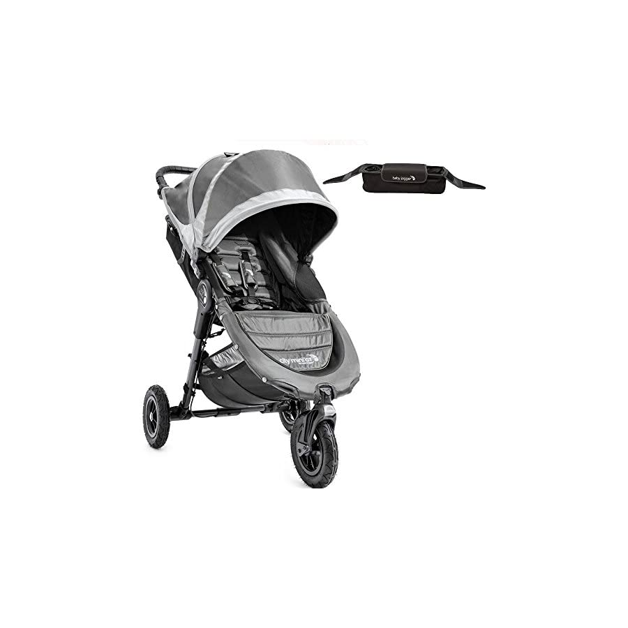 Baby Jogger 1962757KT City Mini GT Single Stroller With Parent Console Steel gray