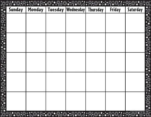 Teacher Created Resources Calendar Chart, Black/White Crazy Circles (7718)