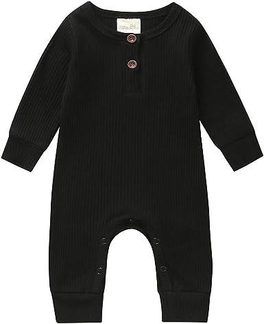 Newborn Baby Boys Cotton Clothes Long Sleeve Romper Outfits Jumpsuit Bodysuit
