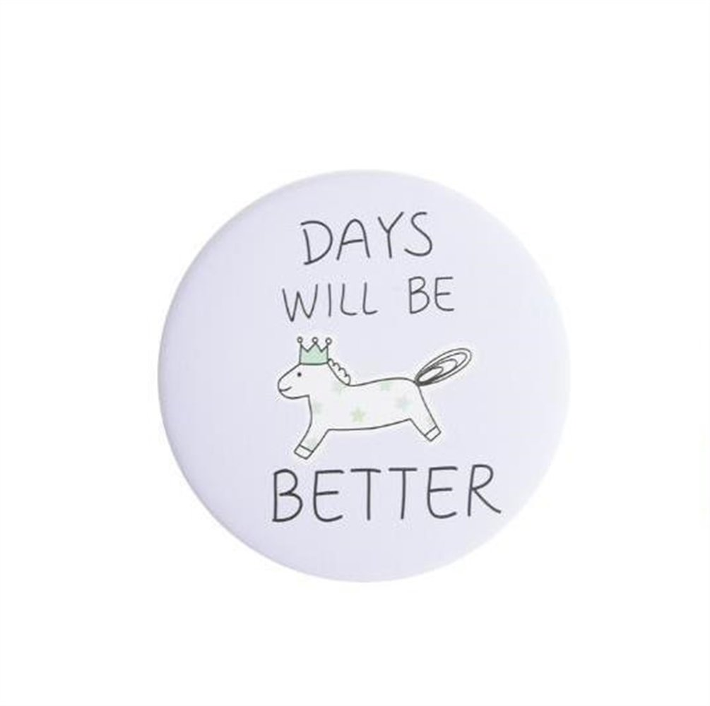 Yingealy Childrens Mirror Mini Round Cartoon Town Pattern Small Glass Mirrors Circles for Crafts Decoration Cosmetic Accessory