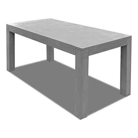 Tavoli Da Esterno In Cemento.Vidaxl Tavolo Da Pranzo Esterno Rettangolare In Cemento Da Giardino