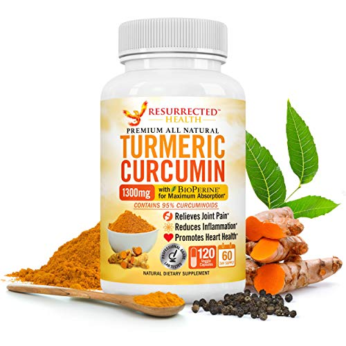 Turmeric Curcumin with Black Pepper – Value Size 2 Month Supply – Natural Joint Support and Inflammation Reducer – Vegetarian-Friendly w/95% Standardized Curcuminoids + Bio-Perine for Max Absorption