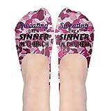 Sweatin Like A Sinner In Church Polyester Cotton Deodorant Ankle Socks Non Slip Socks For Women Girl