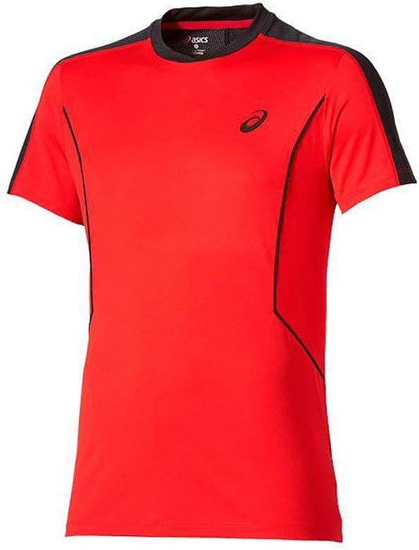 ASICS Camiseta Padel SS Top ROJA: Amazon.es: Deportes y aire libre