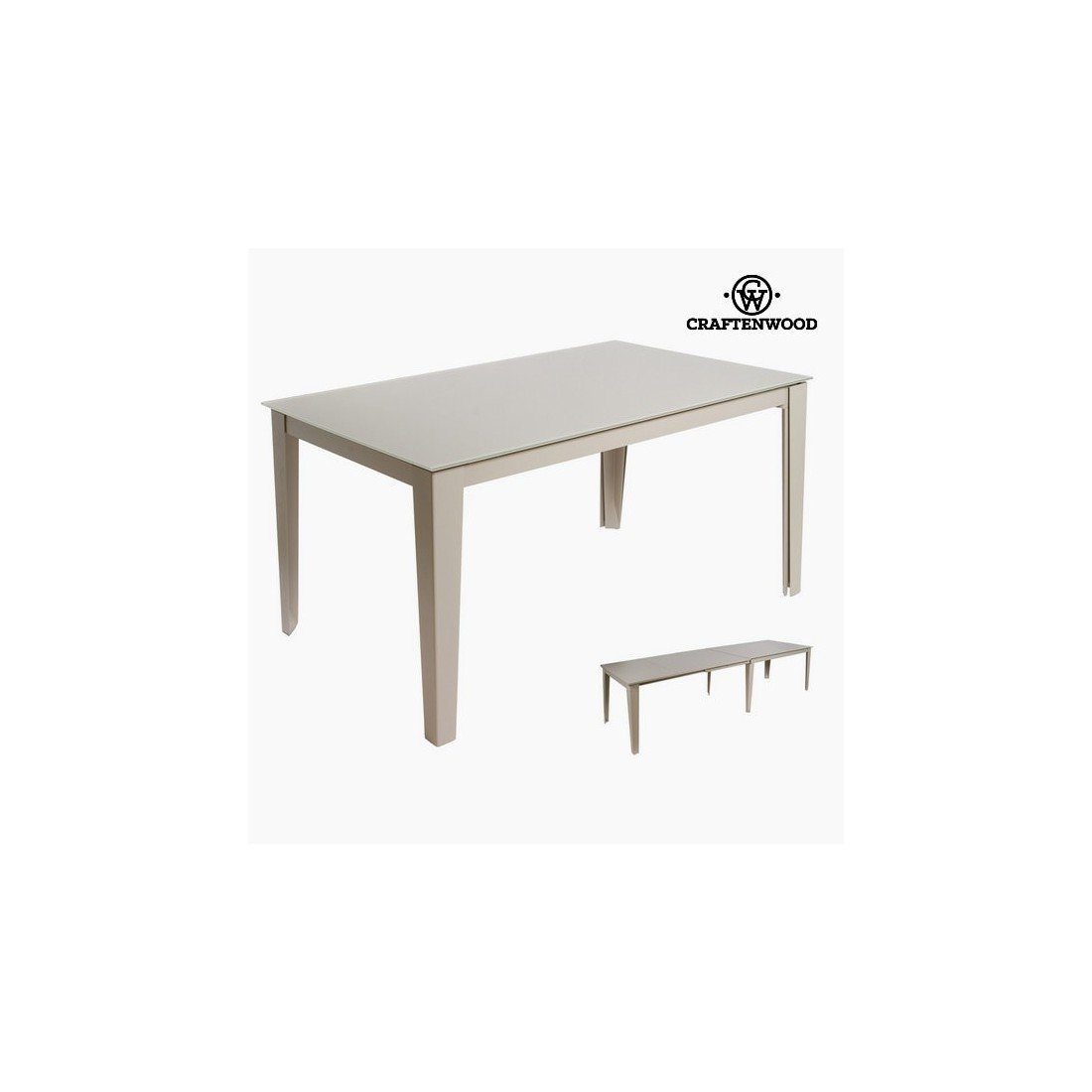 Craften Wood - Table extensible grise by Craftenwood - bb_S0103241