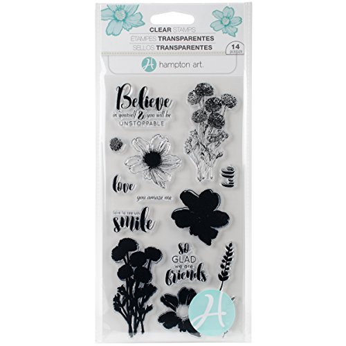 (Hampton Art Flower Believe Clear Stamps Layer FlwrBelieve)