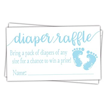 Amazon 50 Blue Baby Feet Diaper Raffle Tickets Boy Baby