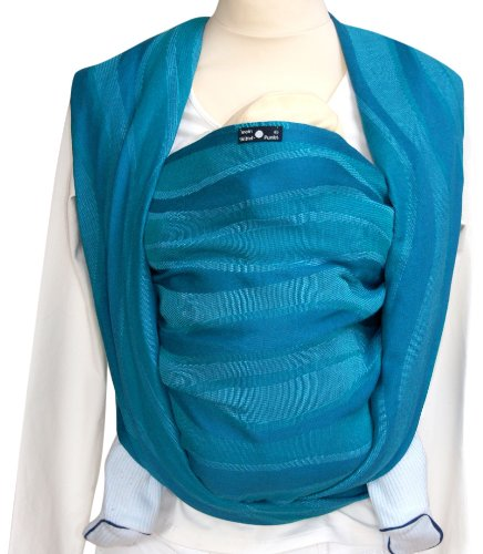 Organic Cotton DIDYMOS Woven Wrap Baby Carrier Waves Acqua Size 8